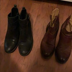 Size 7 Nine West and Vince Camuto leather boots